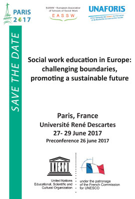 Social Work Education in Europe: Challenging boundaries, promoting a sustainable future